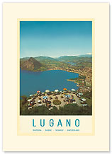 Lugano, Switzerland - Premium Vintage Collectible Blank Greeting Card