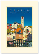 Tessin, Southern Switzerland - Premium Vintage Collectible Blank Greeting Card