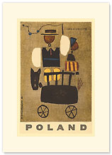 Poland: Land of Folklore - Premium Vintage Collectible Blank Greeting Card