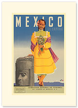 Mexico Le Espera - Premium Vintage Collectible Blank Greeting Card