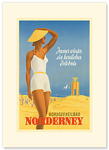 Nordseeneilbad Norderney Resort: Always a Wonderful Experience - Premium Vintage Collectible Blank Greeting Card