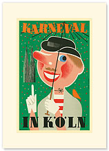 Karneval In Koln: Germany - Premium Vintage Collectible Blank Greeting Card