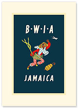 British West Indies Airways: BWIA Jamaica - Premium Vintage Collectible Blank Greeting Card