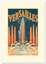 Versailles, France - Premium Vintage Collectible Blank Greeting Card