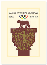 Games of the XVII Olympiad, Roma - Premium Vintage Collectible Blank Greeting Card