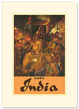 Ajanta, India - Premium Vintage Collectible Blank Greeting Card