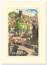 Britain Village - Premium Vintage Collectible Blank Greeting Card