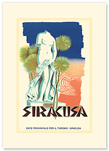 Siracusa, Italy - Aphodite Statue - Premium Vintage Collectible Blank Greeting Card