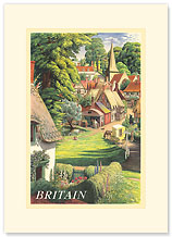 Britain Countryside - Premium Vintage Collectible Blank Greeting Card