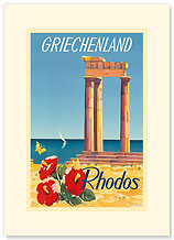Rhodos: Griechenland, Greece - Premium Vintage Collectible Blank Greeting Card