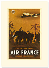 Aviation: Afrique Occidentale Afrique Equatoriale - French West & Equatorial Africa - Premium Vintage Collectible Blank Greeting Card