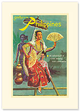 Southern Philippines: An Adventure in Color, Beauty, Rich Contrasts - Premium Vintage Collectible Blank Greeting Card