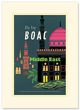 British Overseas Airways Corporation: Fly by BOAC - Middle East - Premium Vintage Collectible Blank Greeting Card