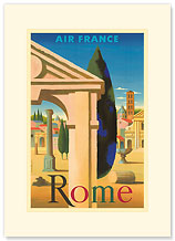 Aviation Rome Villa - Premium Vintage Collectible Blank Greeting Card