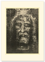 Shroud of Turin - Premium Vintage Collectible Blank Greeting Card