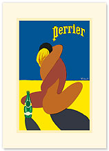 Perrier: Nude Lovers - Premium Vintage Collectible Blank Greeting Card