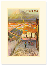 Cusco, Peru - Peruvian View - Premium Vintage Collectible Blank Greeting Card