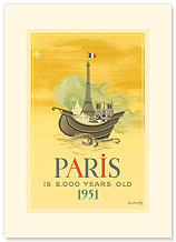 Paris is 2000 Years Old - Premium Vintage Collectible Blank Greeting Card