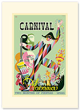 Cuba, Havana Carnival 1948 - Two Months of Fiestas - Premium Vintage Collectible Blank Greeting Card