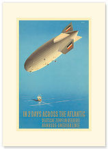 Deutsche Zeppelin Reederei - German Airship - Premium Vintage Collectible Blank Greeting Card