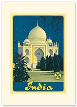 Cruwell-Tabak, Taj Mahal - India - Premium Vintage Collectible Blank Greeting Card