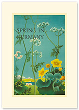 Spring in Germany - Premium Vintage Collectible Blank Greeting Card