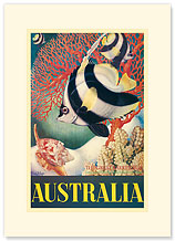 Australia, Great Barrier Reef - Premium Vintage Collectible Blank Greeting Card