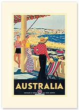 Australia Beach - Premium Vintage Collectible Blank Greeting Card
