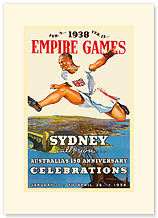 Sydney Empire Games - Premium Vintage Collectible Blank Greeting Card
