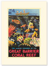 Great Barrier Coral Reef - Premium Vintage Collectible Blank Greeting Card