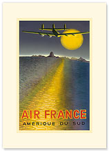 Aviation Amerique Du Sud - South America - Premium Vintage Collectible Blank Greeting Card