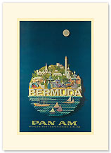 Pan Am Bermuda - Premium Vintage Collectible Blank Greeting Card