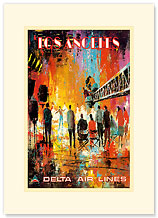 Delta Los Angeles - Movie Set - Premium Vintage Collectible Blank Greeting Card