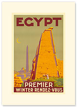 Egypt, Premier Winter Rendez-Vous - Premium Vintage Collectible Blank Greeting Card