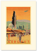 Aeroput Yugoslavia - Premium Vintage Collectible Blank Greeting Card