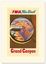 TWA Direct Grand Canyon - Premium Vintage Collectible Blank Greeting Card