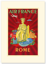 Aviation Rome Vatican - Statue of St. Peter - Premium Vintage Collectible Blank Greeting Card