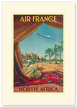 Aviation North Africa - Premium Vintage Collectible Blank Greeting Card