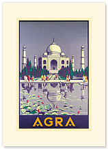 Agra Taj Mahal - India - Premium Vintage Collectible Blank Greeting Card