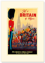 Great Britain Pan Am - Palace of Westminster Parade - Premium Vintage Collectible Blank Greeting Card