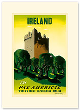 Pan Am Ireland Castle - Premium Vintage Collectible Blank Greeting Card