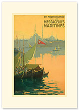 Istambul Messageries Maritimes - Premium Vintage Collectible Blank Greeting Card