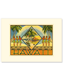 Hawaii Brochure - Personalized Vintage Collectible Greeting Card