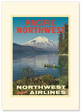 Pacific Northwest - Spirit Lake, Mount St Helen - Premium Vintage Collectible Blank Greeting Card