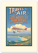 Travel By Air - Premium Vintage Collectible Blank Greeting Card