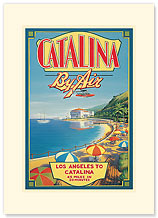 Catalina By Air - Premium Vintage Collectible Blank Greeting Card