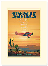 Standards Air Line - Premium Vintage Collectible Blank Greeting Card