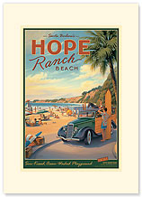 Hope Ranch Beach - Premium Vintage Collectible Blank Greeting Card