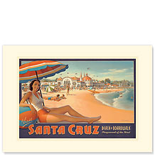 Santa Cruz - Premium Vintage Collectible Blank Greeting Card