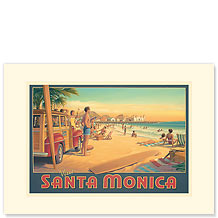 Santa Monica - Premium Vintage Collectible Blank Greeting Card